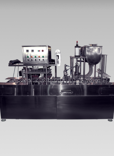 Automatic line filling and sealing machines.